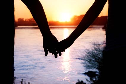 Image result for couple walking off in silhouette